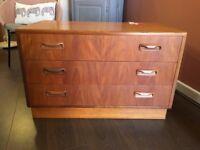 G Plan original retro chest of drawers, still with original label vgc