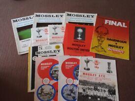 Mossley Football Club 1980's Match Programmes