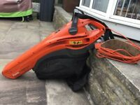 Flymo FLGV2700 GardenVac Electric Garden Blower Vacuum,