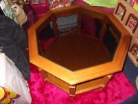 mahogany coffee table £20