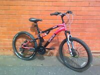 Spike Mountain ,City Bike - full suspension , comfortable seat , Wellgo pedals , ready to ride