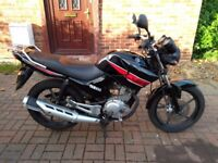 2013 Yamaha YBR 125 motorcycle, new 1 year MOT, very good runner, heated grips, bargain, not cbf yzf