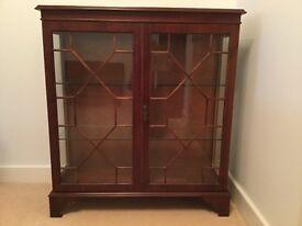 Mahogany Glass Cabinet