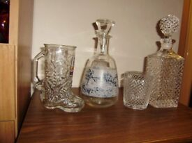 Decanter x 2, in excellent condition, no chips or cracks, different prices