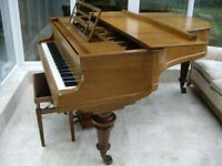 "Superb Bluthner 6' 3"" grand piano Style 7 rosewood case fantastic tone inc piano seat recently tuned"
