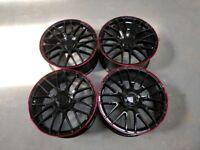 Alloys wheels 19 inch Merc C63 S Gloss black-Red lip Merc C&E class £385