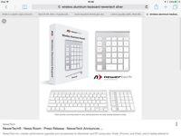 Wireless Aluminum Keypad