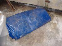 very large blue tarp /pondliner