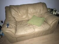 Camel leather sofa - bargain!!!
