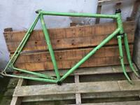 Falcon vintage steel bike frame and forks fixie fixed racing road project