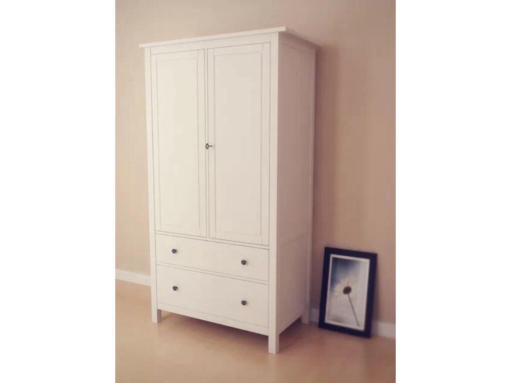 ikea hemnes wardrobe solid wardrobe in batley west. Black Bedroom Furniture Sets. Home Design Ideas