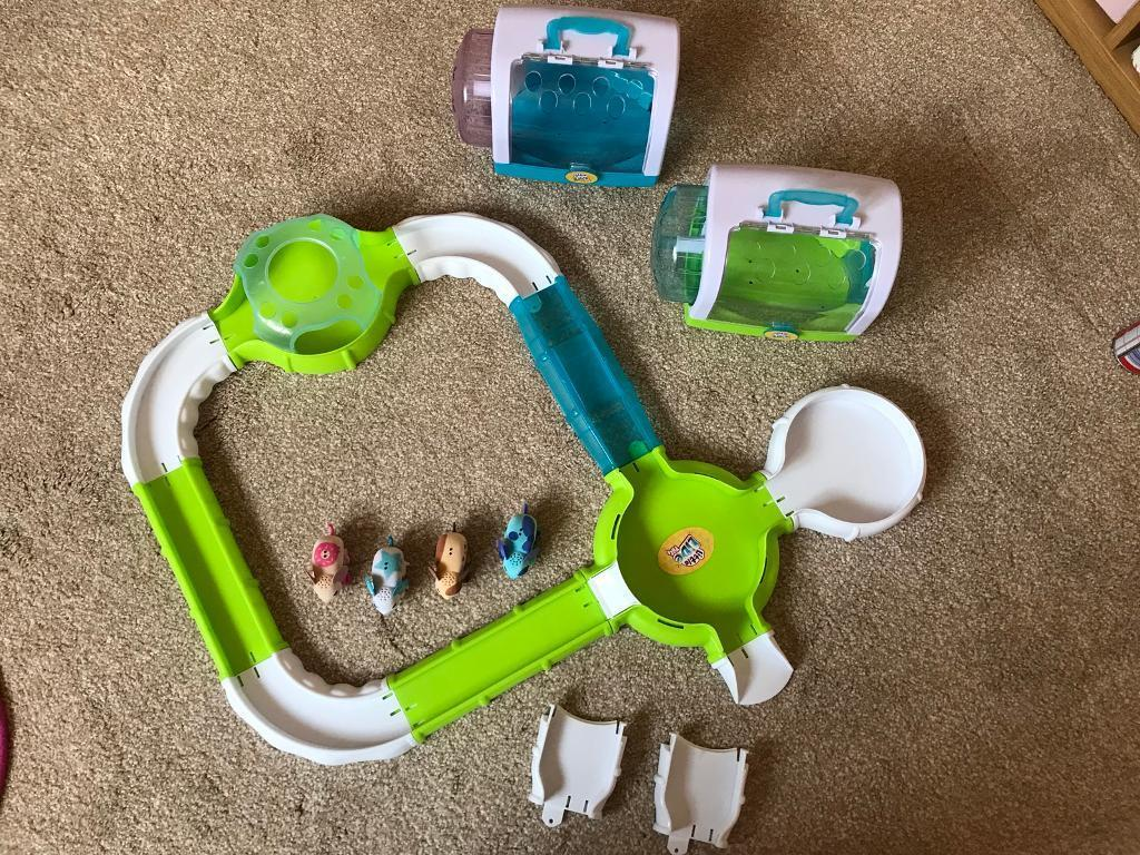 Little live mouse run set with 4 mice