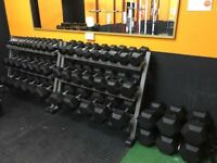 1kg - 40kg Rubber Hex Dumbbell Set - Weights Gym - 740kg