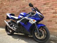 YAMAHA R6 BLUE 2004 YZF