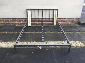 Metal double bed