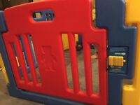 LITTLE PLAYZONE PLAYPEN with musical activity side gate