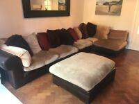 Large L shaped sofa