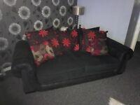 Sofa in grey fabric vgc