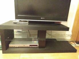 Black tv unit in good clean condition
