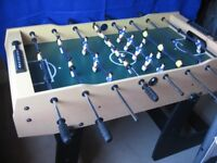 Folding TABLE FOOTBALL Table 121cm length Sturdy construction in excellent condition, hardly used
