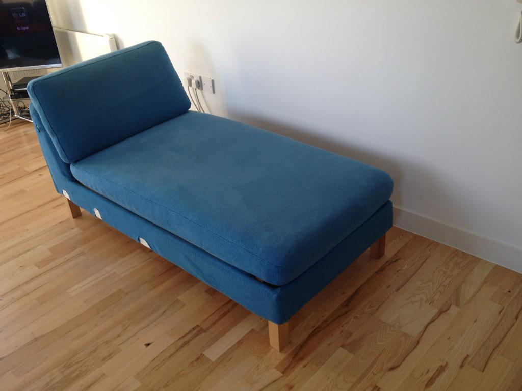 Ikea karlstad blue buy sale and trade ads great prices for Blue chaise longue