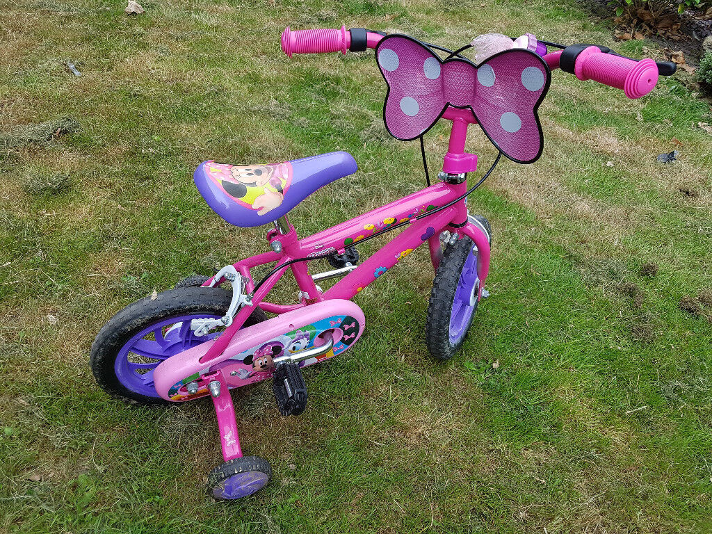 DISNEY MINNIE MOUSE 12 INCH BIKE WITH STABILISERS
