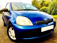 A VERY LOW MILEAGE STUNNING YARIS WITH A VERY LONG MOT.