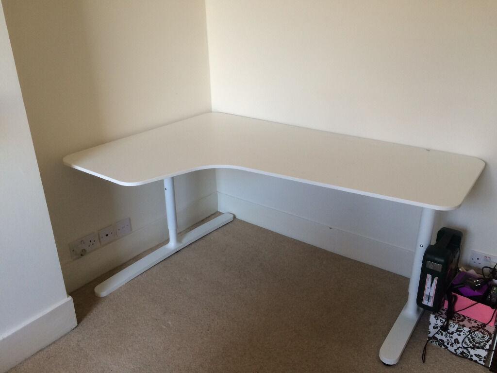Ikea Bekant Corner Desk In White In Hammersmith London