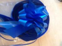 Royal blue wedding ribbon