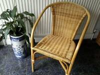 Wicker/Bambo Chair for sale