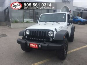 2017 Jeep Wrangler Willys 4x4 Automatic w/Power Group, Hardtop