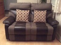 2 seater and 3 seater reclining settees