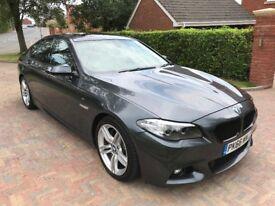 Stunning BMW 5 Series 3.0 535d M Sport 4dr. 42k. Top Spec. 1 Owner. FSH, BMW Service Plan Included
