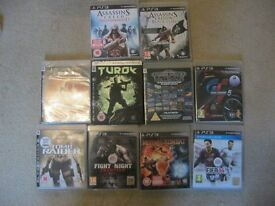 PLAYSTATION 3 GAMES ASSORTED X 10 IN GREAT ORDER. VIEWING/DELIVERY AVAILABLE
