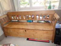 Wooden bench, seating and storage unit