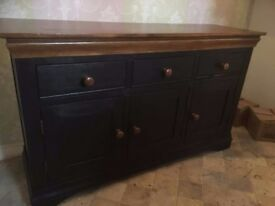 Solid oak painted dresser/console table