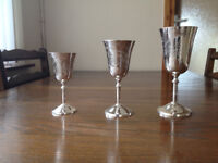 36 New Silver Plated Goblets from the 1970's
