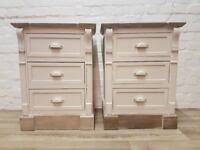 Pair Of New England Style Bedside Cabinets (DELIVERY AVAILABLE)