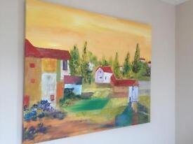 **REDUCED** Very large original oil painting