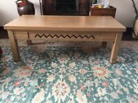 TV cabinet and matching coffee table made in a Sante Fe, NM woodworks. Cabinet has swivel table 4 TV
