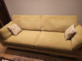 Ex-DFS 4 seater fabric sofa