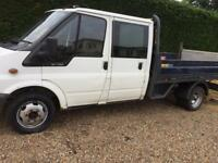 Ford transit crew cab Lwb dropside low mileage