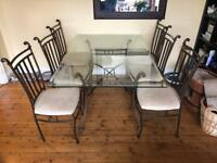 Dining Table & 6 Chairs - Must be picked up by van Saturday 24th March