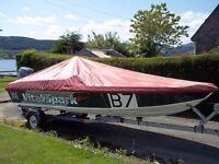 Phantom 16 speedboat hull.