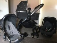 Icandy peach 3 buggy, car seat and carry cot