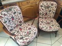 Ercol Windsor Easy Chairs 1960's Cushions