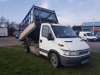 Iveco Tipper truck with caged sides twin wheel tree/land scape