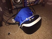 Playstation VR with box, gun, move controllers, camera, headphones + 3 games inc Farpoint and RE5