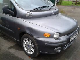2003 Fiat Multipla 1.6 ELX Brotherwood Mobility conversion for UPFRONT wheelchair user