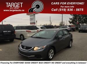 2013 Honda Civic LX Low Kms, Drives Great and More !!